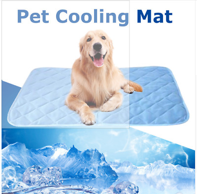 Pet Dog Cat Cooling Gel Mat Bed Summer Heat Relief Non Toxic Cushion Pad S/M/L