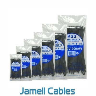 KSS Nylon Cable Ties 203mm x 4.6mm Pkt 1000 CV-200KW