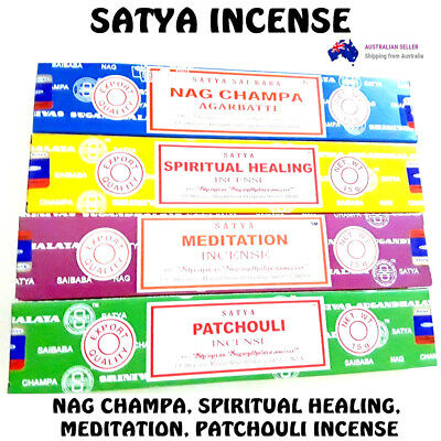 INCENSE STICKS 15g X 4Box Pack Home Fragrance Nag Champa Scents SATYA INSENCE