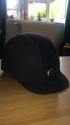 navy gatehouse juennesse glitter riding hat size 59 perfect condition