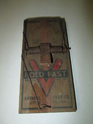 Antique Wooden HOLD FAST Rat Trap Animal Trap Co. Lititz PA