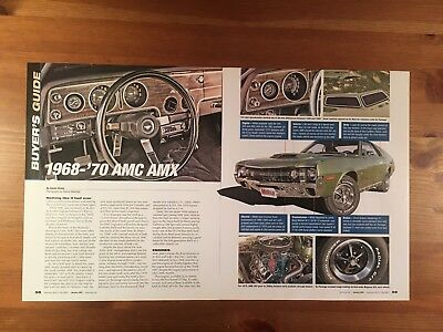 1968-1969-1970 Amc Amx Buyer's Guide Magazine Ad