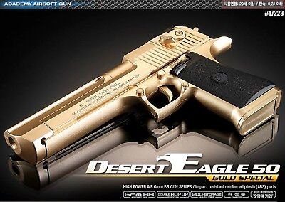 [Academy] Desert Eagle 50 GOLD Hand Grips 20mm /ABS Airsoft Pistol BB Gun 6mm