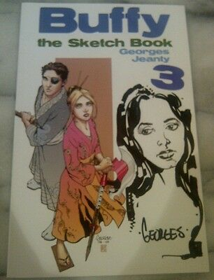 Limited Edition Buffy Sketch Book 3 Georges Jeanty Signed Sketch (Not Print) Ln