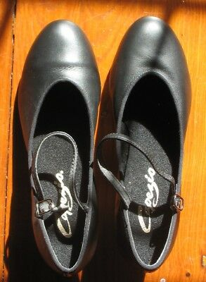 NEW CAPEZIO CHARACTER BALLROOM BLACK SHOES 7.5 womens suede soles