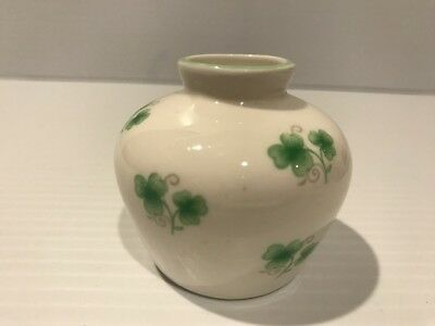"Crown Staffordshire Fine Bone China ""Shamrock"" MINI Vase Made in England 2"" TALL"