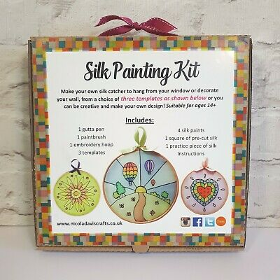 Adults and Children's Silk Painting Kit, Learn to silk paint, Crafts Kit
