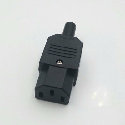 Rewireable Heavy Duty IEC C13 Female Connector Socket Power Cable Adapter Plug