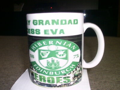 Clearance Hibs Mug, Happy Birthday, Personalised, Football Novelty Gift, Uk