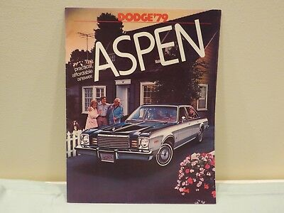 Vintage 1979 Dodge Aspen Sales Brochure
