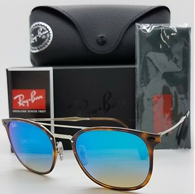 b14368935e9 NEW Rayban sunglasses RB4286 6257 B7 55 Havana Silver Blue Mirror 4286  LightRay