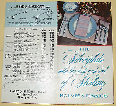 1953 Holmes & Edwards Flatware Brochure