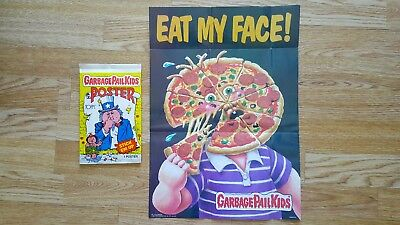 Garbage Pail Kids Poster - #7 Eat My Face (1986) - Topps - New & 100% Complete