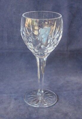"6⅞"" Waterford Lismore Crystal Hock or Balloon White Wine Glass - Ireland"