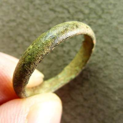 Ancient Genuine French Copper Wedding Ring Artifact ca.18th Century AD size 7