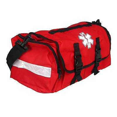 First Responder EMT Paramedic On Call Trauma Bag With Reflectors Red 17x7x10