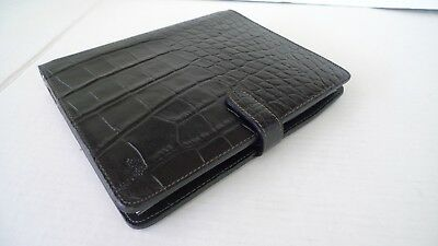 Mulberry -  Black  Leather  Planner- With Unopened Inserts-Made In England