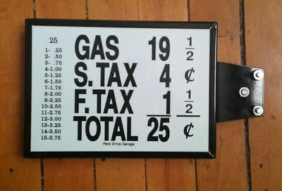 """5.5"""" x 8""""Metal Sign - Gas Price 25 Cents - Vintage Look Repro, two sided"""
