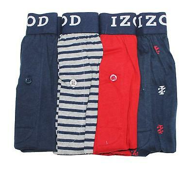 Izod Mens Cotton Knit Boxers 4-pack