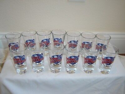 Planet Hollywood glass Shot Glasses lot of 13 different locations all never used