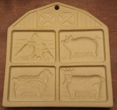 The Pampered Chef Cookie Mold / Press From 1994 ~ Farmyard Friends