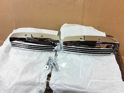Harley Evo Rockerbox Chrome Finned Covers Hardware Softail Topend Facelift