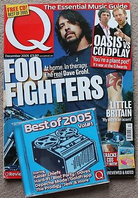 Q magazine 233 Dec 2005 +CD Foo Fighters/John Lydon/Hard-Fi/Simply Red