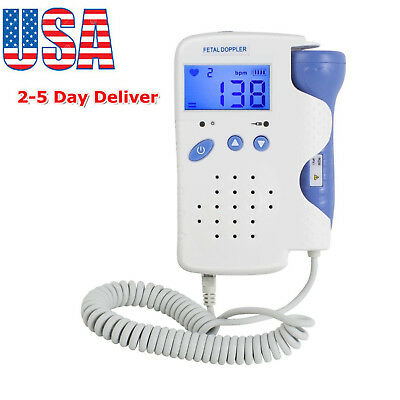 CE Pregnancy Baby fetus Heart Rate Monitor Fetal Doppler Recorder Sound with Gel