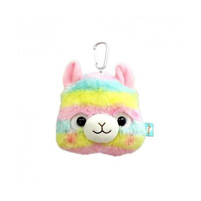 AMUSE Rainbow Alpaca 15cm Carrying Pouch Wallet Coin Purse Reel Plush
