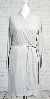Blooming Marvelous Grey Maternity Dressing Gown Wrap Size M 12-14 New