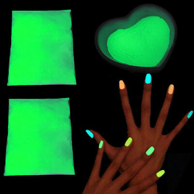 Nail Art Glow In The Dark Uv Fluorescent Pigment Powder Acrylic Gel