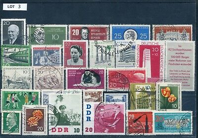 DDR Lot gestempelte Briefmarken laut SCAN (Lot 3)