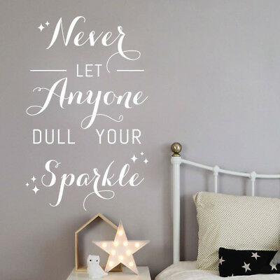 Never Let Anyone Dull Your Sparkle - Wall Quote, Wall Art Sticker