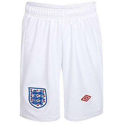 Mens England Football Team Umbro Training Club Sports White Shorts Size BNWT
