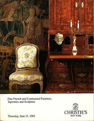 Christie's NY Fine French Furniture Tapestries Sculpture June 13 1985
