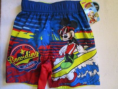 a250cf0d8ba7e Disney Junior Mickey And The Roadster Racers Mickey Mouse Swim Trunk Boy 3T  New