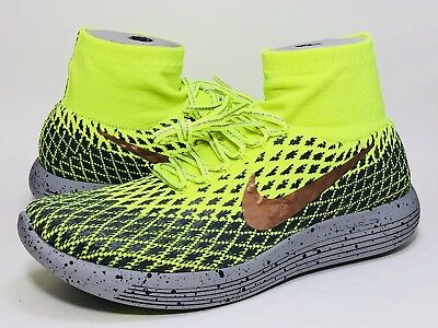 fdeb4d0ad95b Nike Lunarepic Flyknit Shield Running Cross Trainer Bright Neon Volt 849664  700