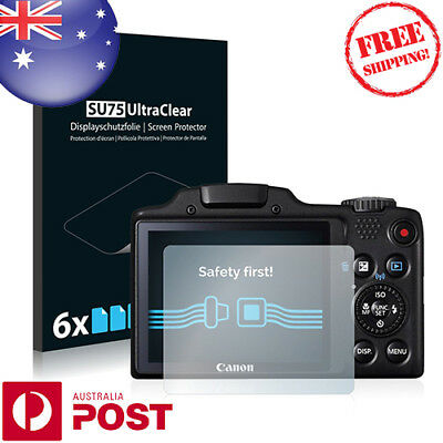6x Savvies SU75 Screen Protector for Canon Powershot SX510 HS - P036FF