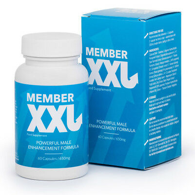 MEMBER XXL,POWERFUL MALE ENHANCEMENT FORMULA,60 Caps,MEMBERXXL