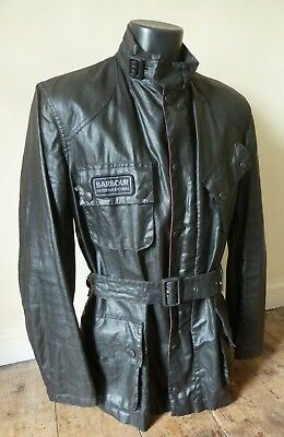 Stunning Barbour International Biker Belted Summer Jacket   - Large - Vgc - £195