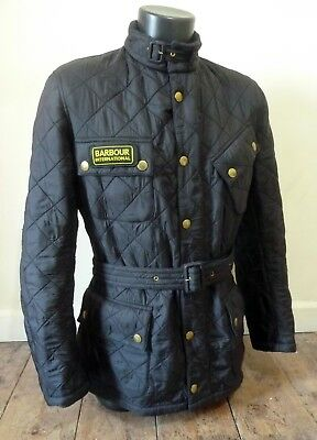 Stunning Barbour International Biker Belted Summer Jacket   - Small - Vgc - £195