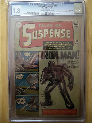 Marvel Comics TALES OF SUSPENSE #39 cgc 1.8 FIRST 1st APPEARANCE OF Iron man