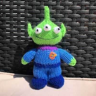 Knitting Pattern: Toy Story Pizza Planet Alien Knitted Toy / Doll