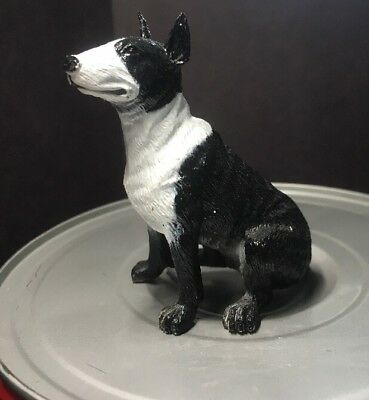 Dog Figurine Model Toy Collectible BULL TERRIER Breed Black & White Playscapes