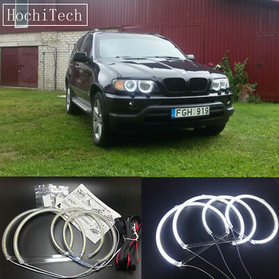 4pcs white LED SMD Angel Eye Halo Rings light for Bmw E53 X5 1999-2004