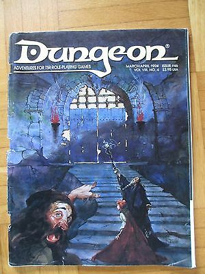 DUNGEON Magazin 1994 #46 Unpunched Sheets Fantasy AD&D Advanced Dungeons Dragons