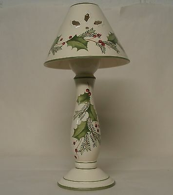 Lenox Holiday Gatherings Candlestick Lamp - Holly