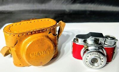 Nice Vintage Red Charmy Mini Spy Camera - Made in Japan Original Leather Case