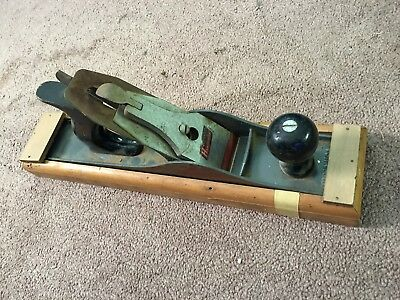 Antique Vintage 14 Inch Wood Plane with Homemade Case