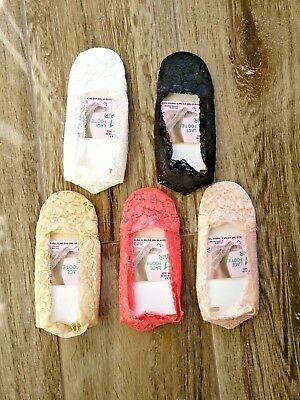 Invisible Lace Socks Women Liners Silicone Anti-Slip Ladies Skin Footsie Boat Uk